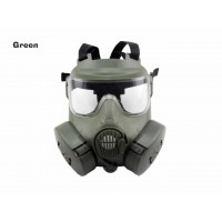 AOLS Gas Mask M50 Adjustable Strap with 2 Breathable Fans for Paintball & Airsoft