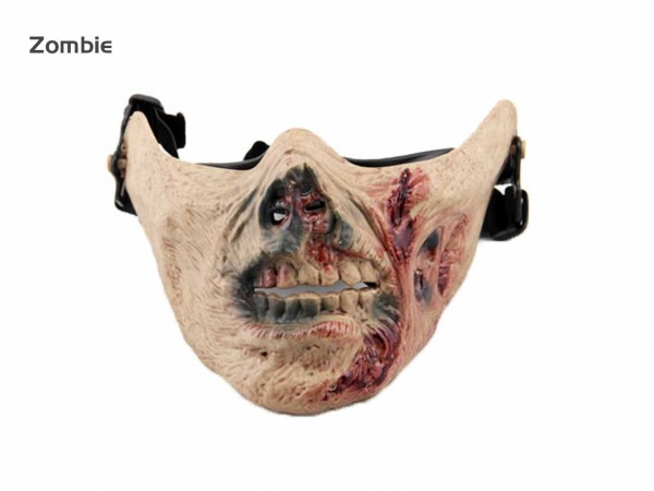 AOLS Half Face Mask Skeleton Army Ⅴ for Paintball & Airsoft
