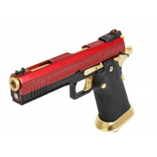 AW HX1104 Full Metal Red/Gold Slide Gas Blow Back Airsoft Pistol