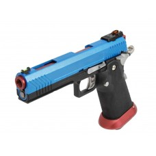 AW HX1105 Full Metal Blue Slide Gas Blow Back Airsoft Pistol