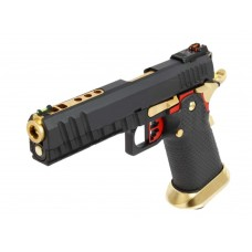 AW HX2002 Split BK/Gold Slide Gas Blow Back Airsoft Pistol