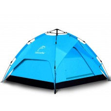 Outdoor Tent Automatic Double-deck Camping 3-4 People blue
