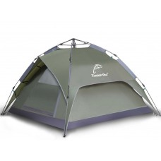Outdoor Tent Automatic Double-deck Camping 3-4 People Green