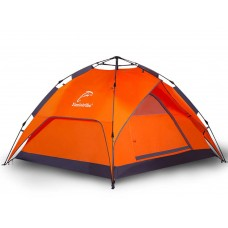 Outdoor Tent Automatic Double-deck Camping 3-4 People red