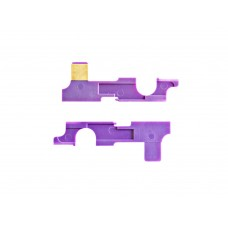 Airsoft V2 selector plate purple color with copper piece