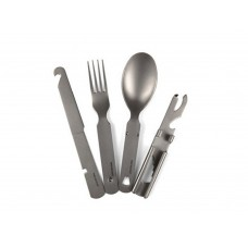 Free Soldier Outdoor Titanium Camping Picnic Tableware Set Natural Color