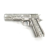 WE 1911 Classic Floral Pattern Full Metal GBB Pistol - Chrome