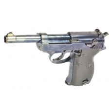 WE P38 Gas Blow Back Airsoft Pistol with LED Carry Case Black