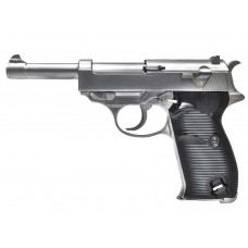 WE P38 Gas Blow Back Airsoft Pistol with LED Carry Case Silver