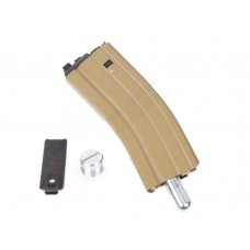30 Round Open Bolt CO2 Magazine for M4 series Tan