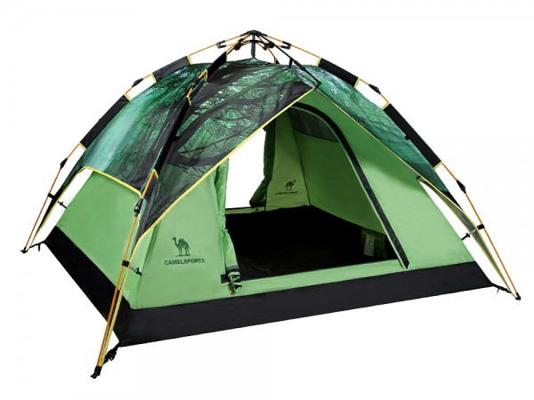 CAMEL Outdoor Hydraulic Automatic 3-4 People Double Four Seasons Tent Camping Tent A6W3H8105